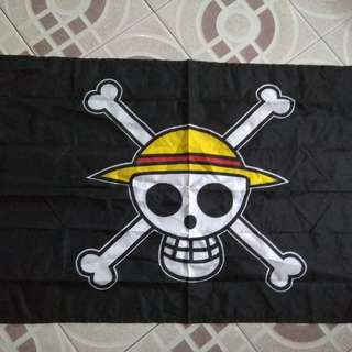 One piece luffy skull flag and blanket