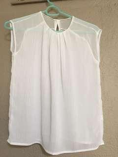 Cute white semi formal blouse
