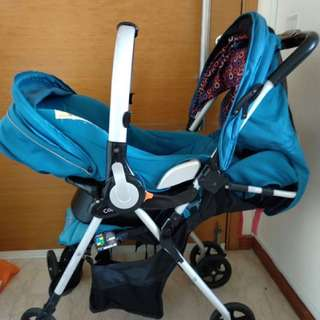 Capellá stroller with car seat