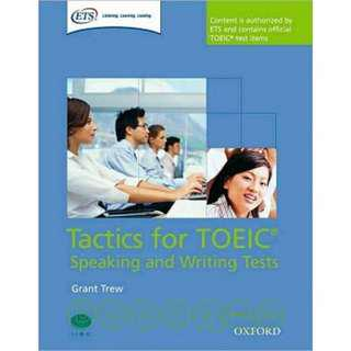 Tactics for TOEIC Speaking and Writing Tests 多益口說 二手保存良好