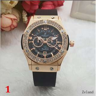 top brand women leather quartz Watches Hublo waterproof t diamond ring c