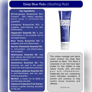 Deep Blue Rub for muscle ache
