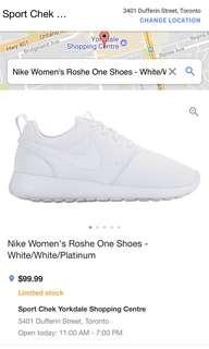 5Y/6W Nike Roshes