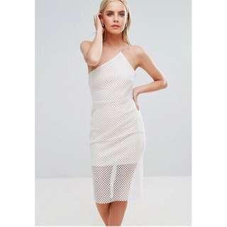 🚚 Asos 白色網格 洋裝