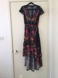 Button up printed dress
