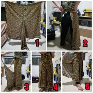 Celana ikat kulot batik