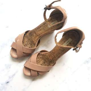 Zara Dusty Pink Wedges