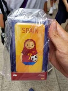 GP 5000mah 世界盃 充電器 西班牙