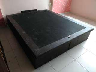 Storage bed ( upholstery required)