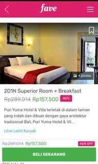 Dijual E-tiket Puri Yuma hotel & villa