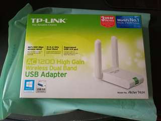 TP-LINK AC1200 High Gain Wireless Dual Band USB Adapter
