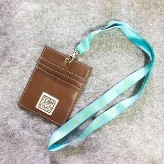 🚚 票卡夾 識別證套 證件套 證件夾 皮質 小豆苗 韓國旅遊 紀念品