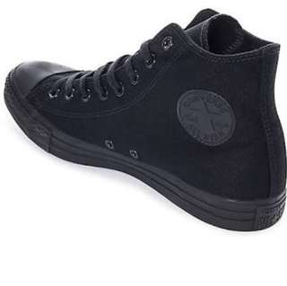 Converse shoes (all black) size 7
