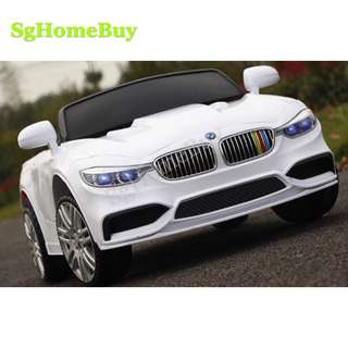In-stock - white Bmw kids electric car