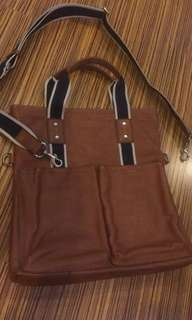 AUTHENTIC COACH TOTE SLING BROWN LEATHER