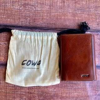 🚚 COWA牛皮三折短夾  真皮 純皮 全新