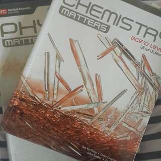 Chemistry and Physics GCE 'O'Level textbooks