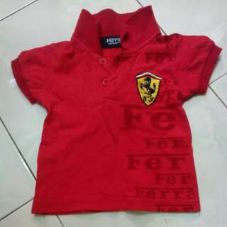FERRARI shirt kids boy