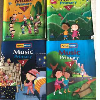 Perfect match Music  textbooks p1, p2, p3,p5