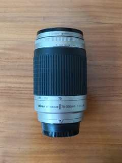 Nikon Nikkor AFD 70 - 300mm f4 - 5.6 G lens with Box, hood & covers