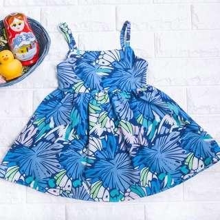 🚚 Instock - Blue Floral Sundress