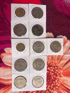 $1 cumulative Malaysia coin (11pcs)