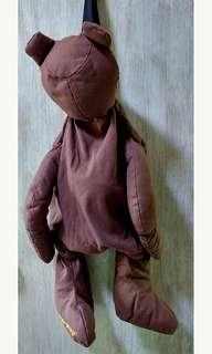 Double Step Brown Bear Backpack 啡色 立體 熊仔 單肩 背包