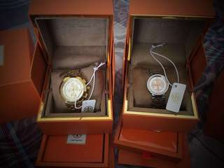 Tory Burch Authentic watches - TRB1000(Gold Chronograph) and TRB4038 - 2 watches for Php20,000.00