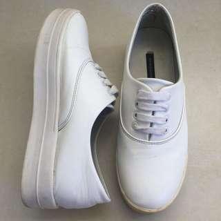 Primadonna faux leather platform sneakers (white)