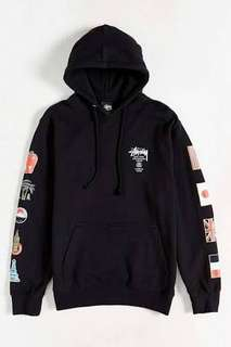 stussy world tour flags hoodie