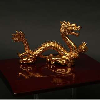 Risis gold plated Dragon with base