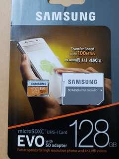 Free adapter original Samsung Microsd 128gb card