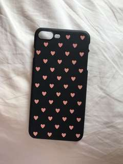 Pink and black heart hard case for iphone 7+/8+ (slightly used) bought this one for 150