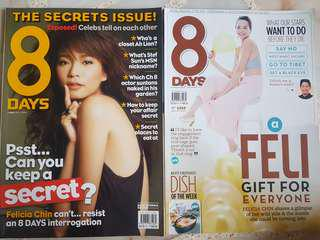 Old 8 Days and i-weekly Magazines - Felicia Chin