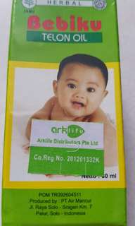New. Bebiku Telon Oil. To help reduce flatulence abd give the warm sensation over the baby's body.