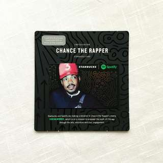 Starbucks Spotify Chance the Rapper Card