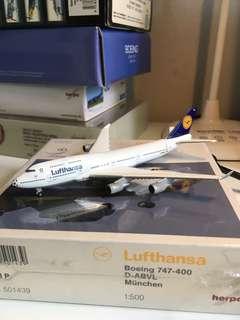 飛機模型 世界盃特別版 Lufthansa Boeing 747-400 D-ABVL München