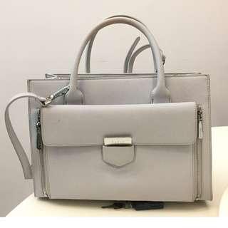 PEDRO light grey handbag 99.5% NEW