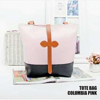 Tas wanita tote bag colombia pink