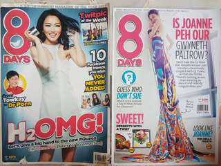 Old 8 Days and i-weekly Magazines - Joanne Peh