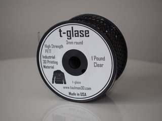 3D printing filament t-glase transparent PETT 3mm 500g