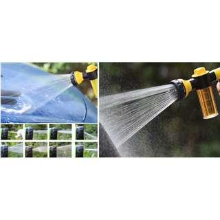[洗車泡沫高壓水槍] 8種噴射模式,可加入清潔液,可自由切換出水或出泡沫方式,一鍵式開關設計,快捷出水,洗車更輕鬆方便
