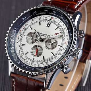 Six-pin Band Stainless Case Full Automatic Mechanical Watch
