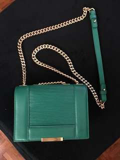 ELIE SAAB emerald green bag