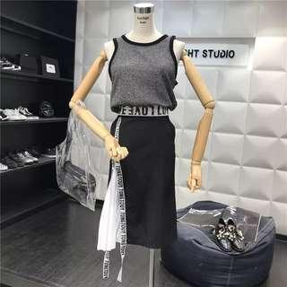 Ulzzang Black & White Set wear