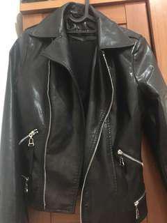 Jacket Leather - black