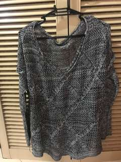 Knitted Grey Top