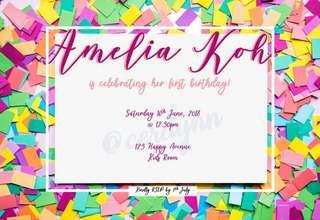 Invitation Card Customisation - 9