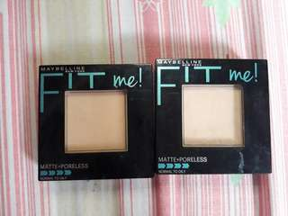 400.00 for 2 Maybelline fit me pressed powde shade 120 and 130
