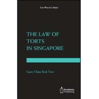 The Law of Torts in Singapore First Edition